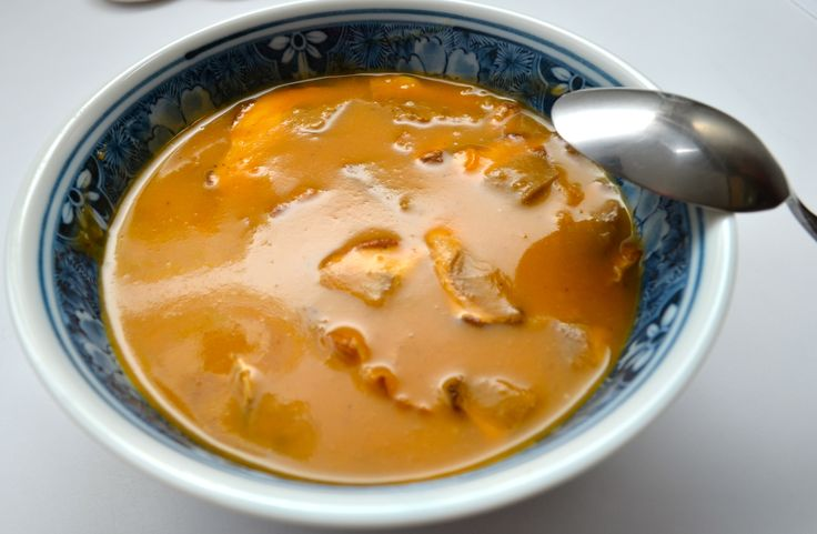 Roasted Sweet Potato & Porcini Mushroom Soup