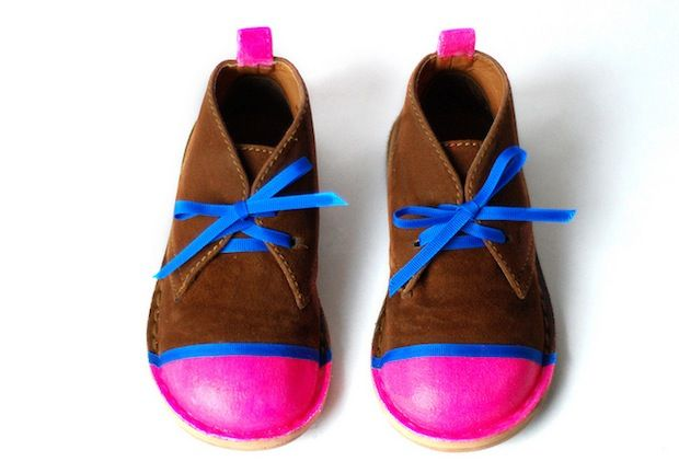 How-To: Neon Shoe Revamp #shoes #DIY #upcycle