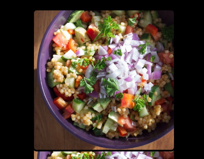 ... israeli couscous and tomatoes israeli couscous and california avocado