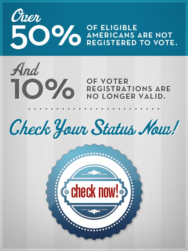 The deadline to register check now are you registered to vote