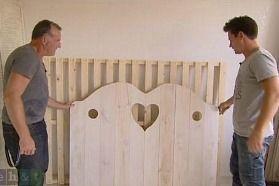 Een brocante bed  Zelf maken: meubels en accessoires  Pinterest
