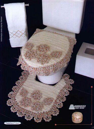 Juego De Baño Navideno En Crochet:Juegos de baño en crochet