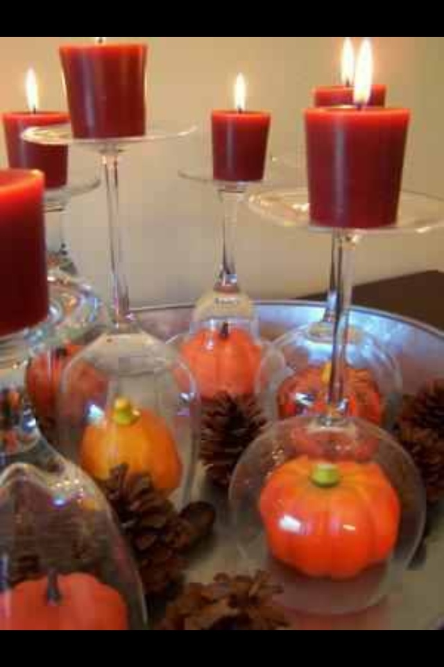 Candle holder autumn fall pinterest
