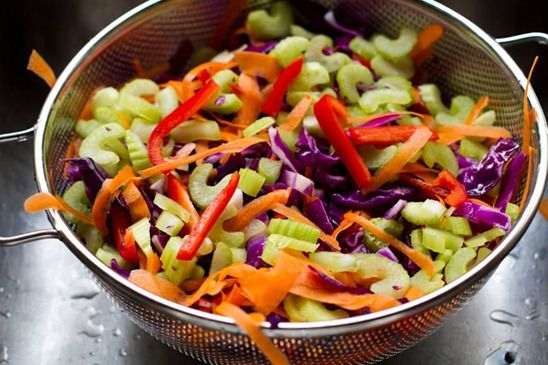 IMG 5536 Over The Rainbow Cabbage Salad with Tahini Lemon Dressing