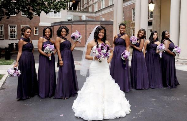 Deep Purple Wedding Dresses : Deep purple wedding gowns