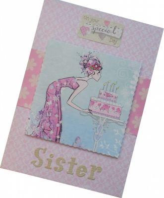 Handmade Sister Birthday Card | Cards & Wishes | Pinterest