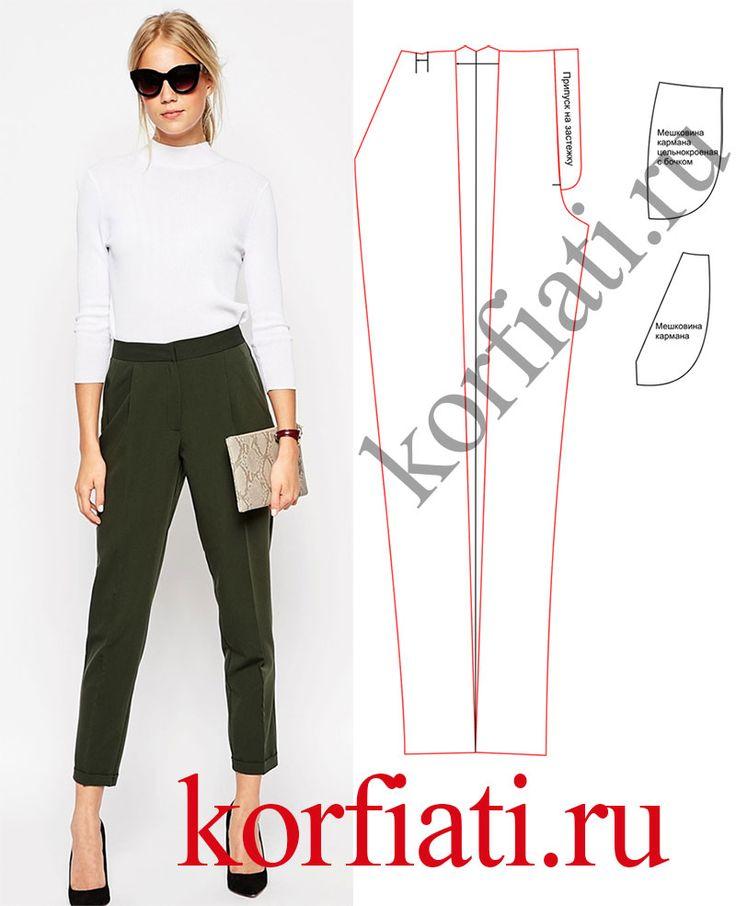 Как сшить красивые брюки женские 18