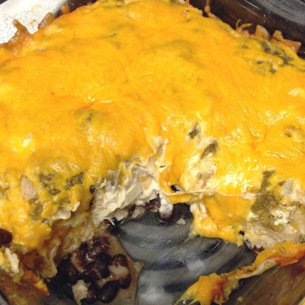 Salsa Verde Chicken Bake Recipe — Dishmaps