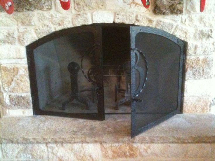 Monogrammed Custom Fireplace Screen Cooper 39 S Forge Inc