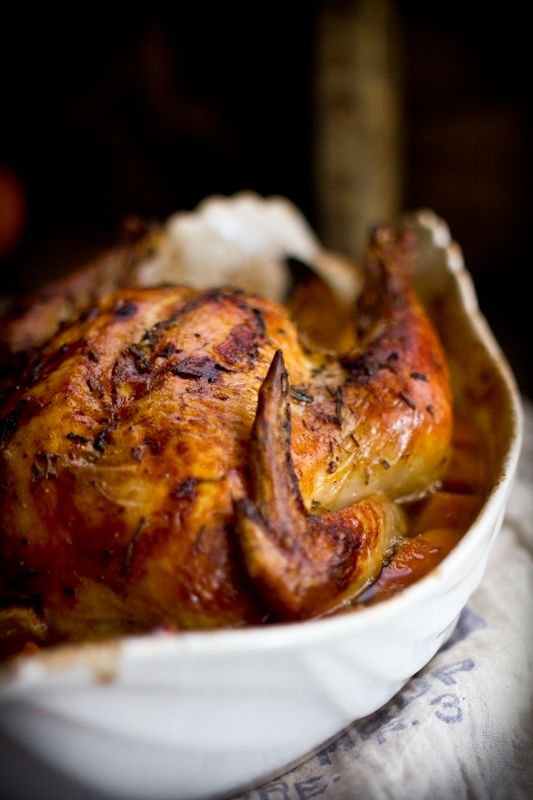 Roast Chicken with Yams, Oranges, Wheat Beer, & Honey. Plus a Roasting ...