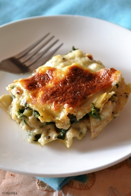 Spinach lasagna without ricotta | Clean Eats | Pinterest