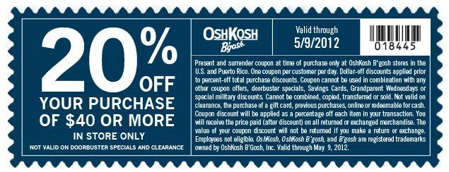 Oshkosh coupons printable usa