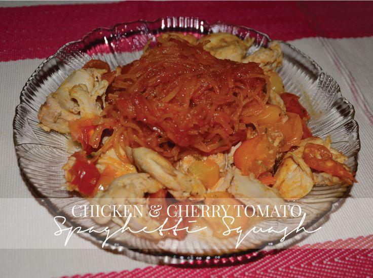 Chicken-&-Cherry-Tomato-Spaghetti-Squash | Paleo/Primal | Pinterest