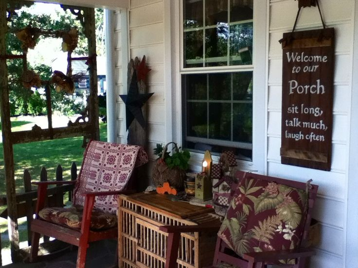 Country Porch Quotes Signs Pinterest