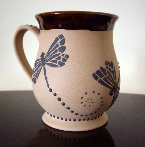 Mug coffee cup dragonfly unique mug latte cup by Unique coffee cups mugs
