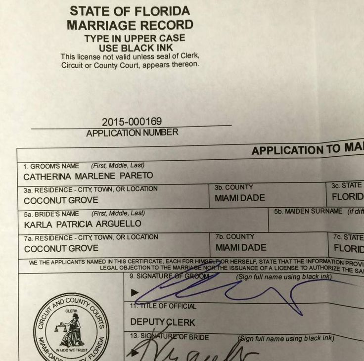 Florida Marriage License Orange County