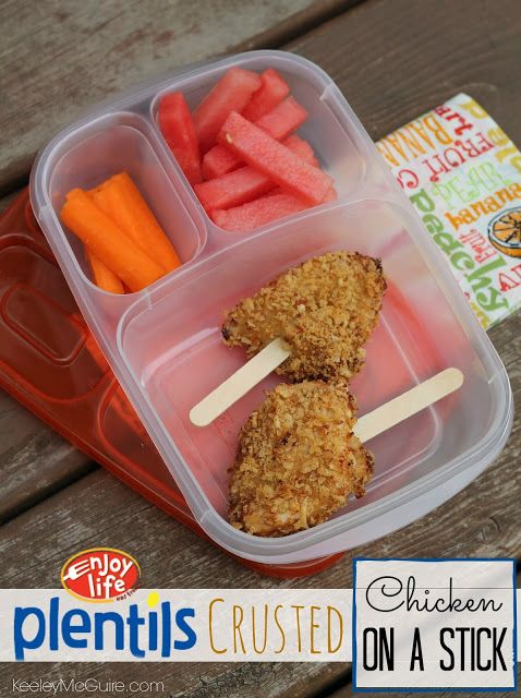 Crusted Chicken on a stick | my future childrens lunches | Pinterest