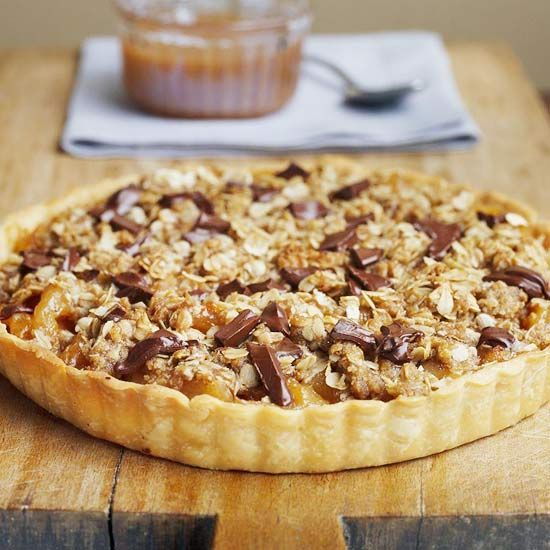 Dried Pear and Chocolate Caramel Tart   Recipies to Try   Pinterest