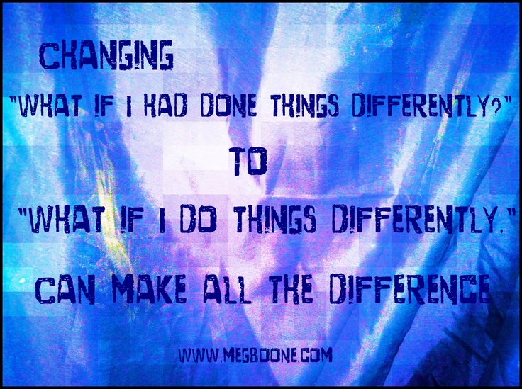 What if I do things differently via megboone.com