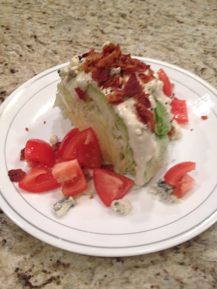 Iceberg wedge with Maytag blue cheese, garlic-peppered bacon, blue ...