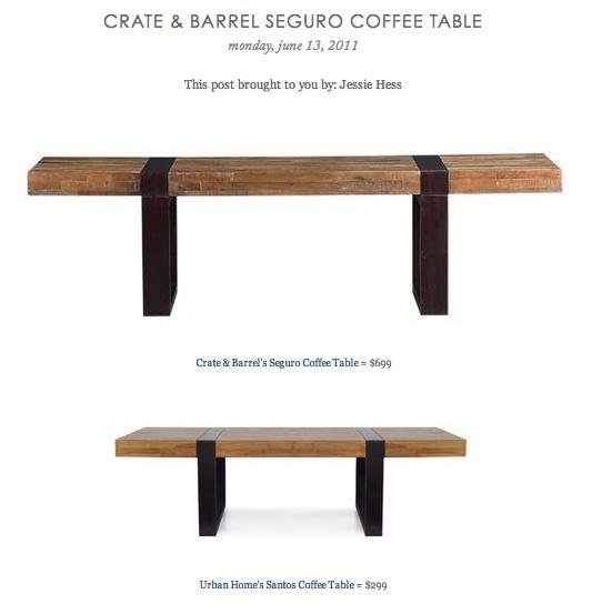 Barrel 39 S Seguro Coffee Table VS Urban Home 39 S Santos Coffee