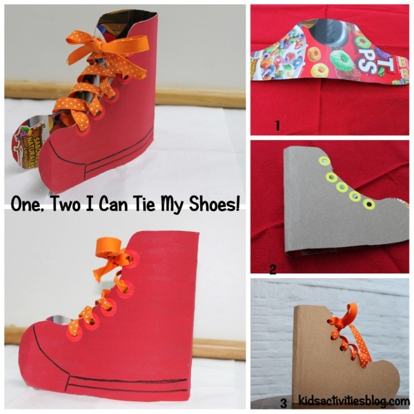a way to learn how to tie a shoe for the kiddos