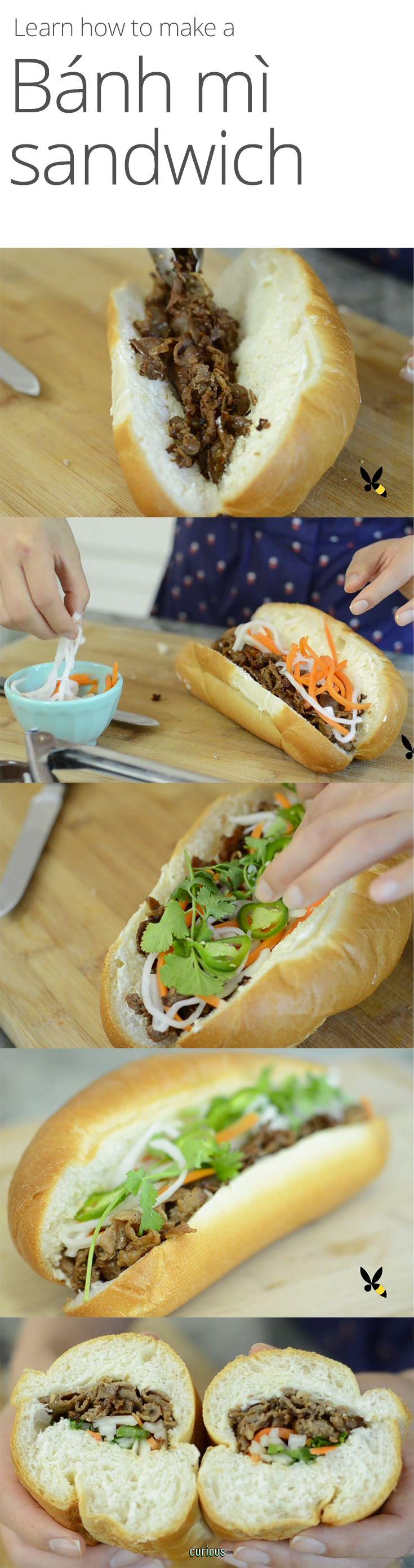 Vietnamese Banh Mi Sandwich | Vietnamese Food | Pinterest