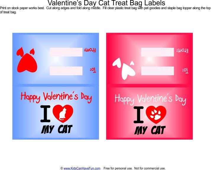 cat valentine cards free