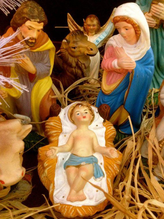 Vintage Christmas Nativity Set