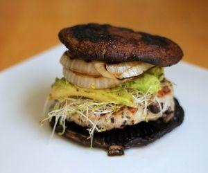 Portobello Black Bean Turkey Burger | Grilling | Pinterest