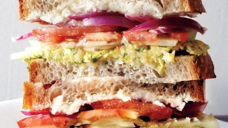 Greek Salad Sandwich | Sandwiches and Wraps | Pinterest