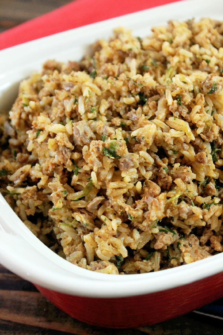 Baby Girl's Dirty Rice - Creole Contessa | main dishes | Pinterest