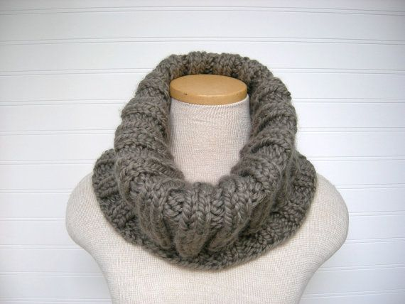 ... cozy ribbed cowl in a luscious wool blend. $30 #knitting #scarf #cowl