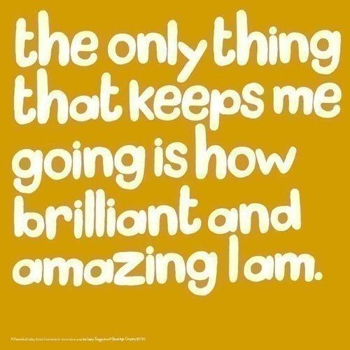 The Word Amazing: I Am Brilliant And Amazing