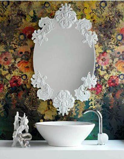 Baños Estilo Barroco:Espejos vintage de estilo Barroco