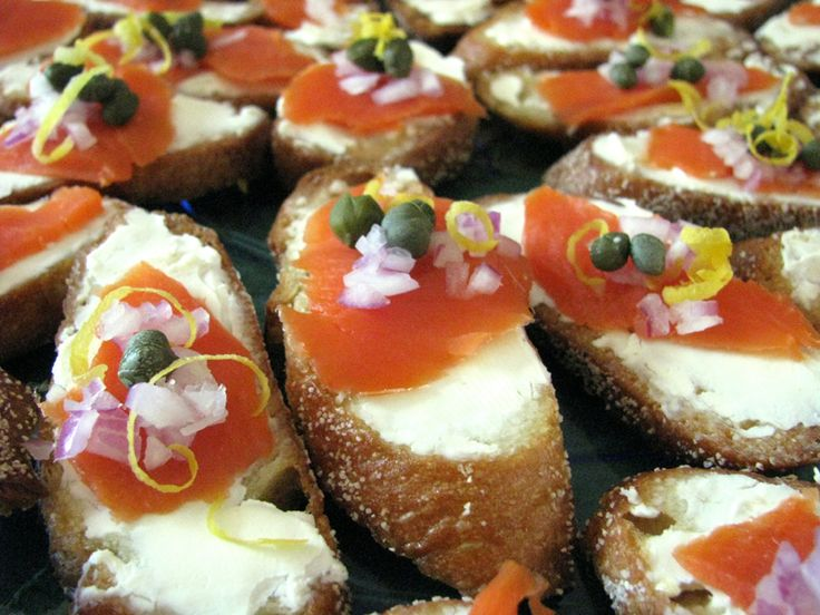 Smoked Salmon Crostini by Meadow Linn | Fish & Seafood | Pinterest