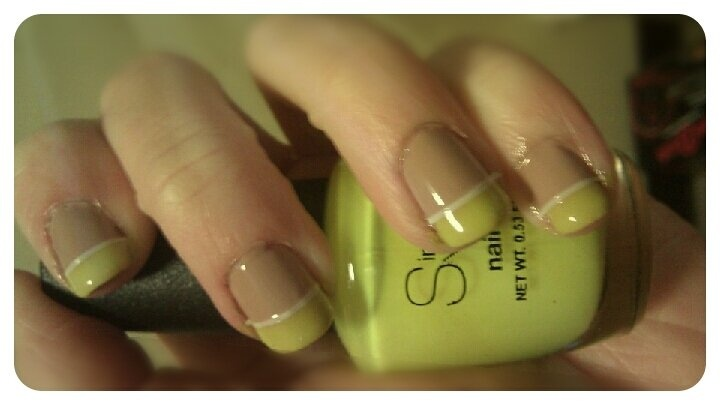 Neon and nude french #nailart :)