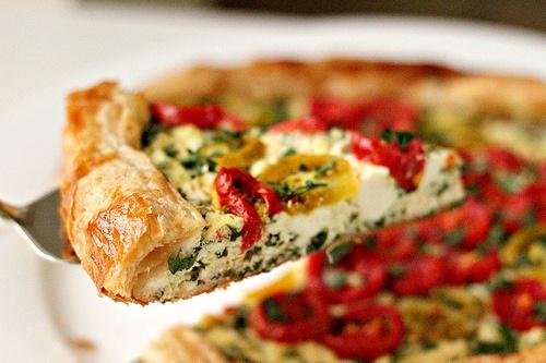 Ricotta and Tomato Tart | Savory | Pinterest