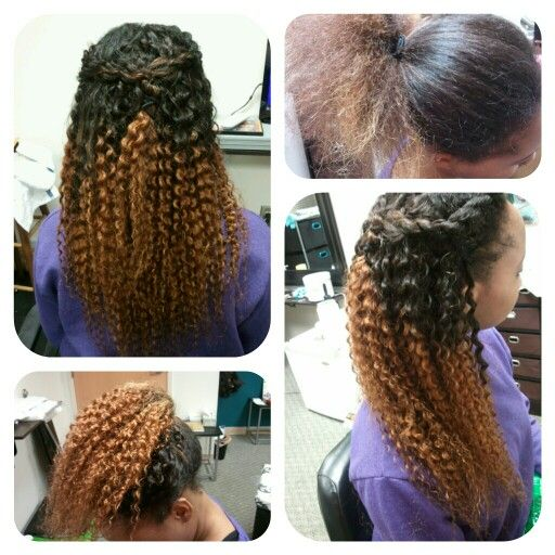 Ombre Curly Hair Weave Ombre weave with kinky curlyOmbre Brazilian Curly Weave