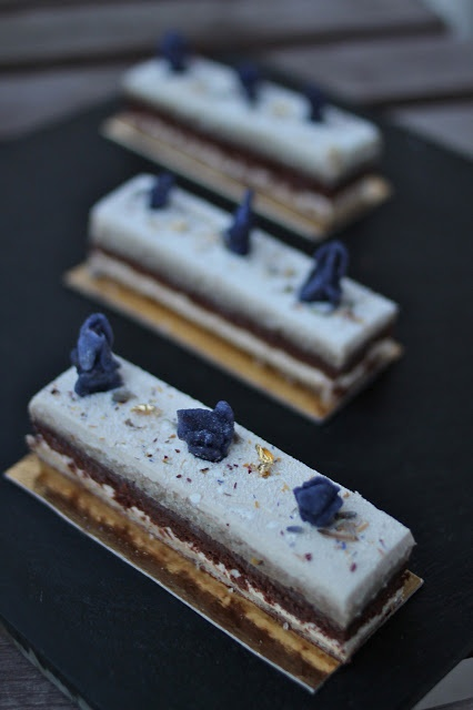 My Lavender & Earl Grey Opera Cake | Cooking with lavender | Pinterest