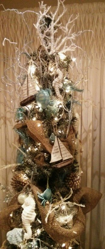 nautical christmas tree christmas pinterest