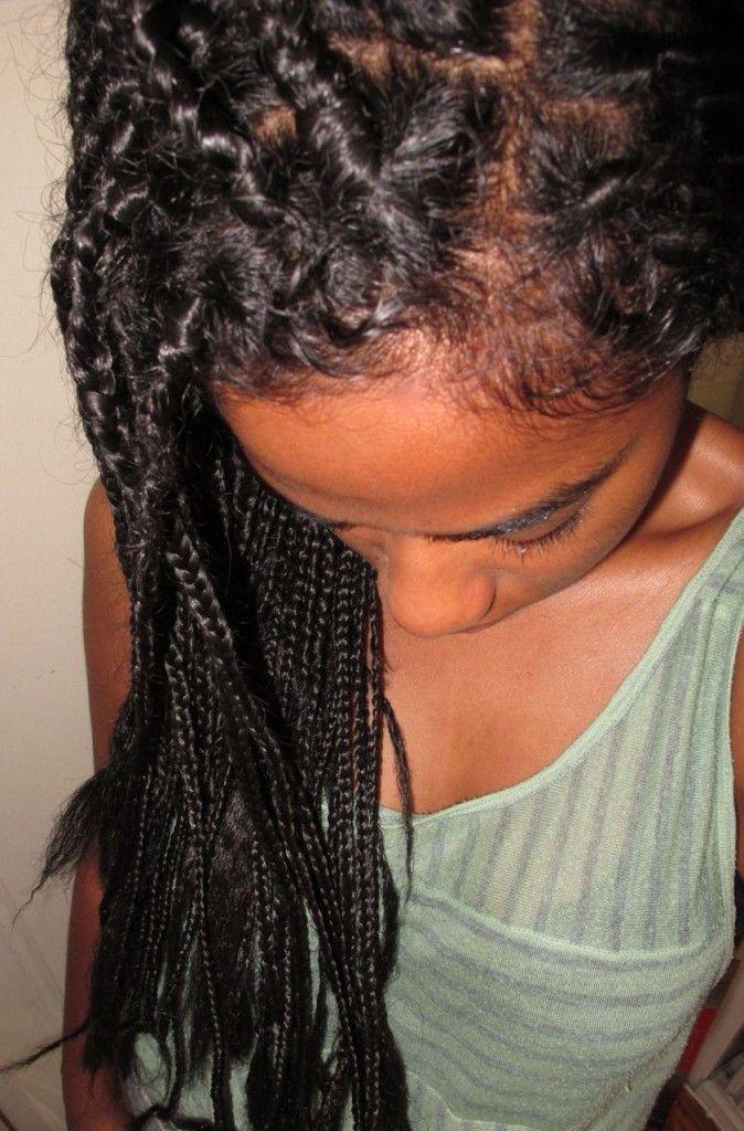 Boho box braids