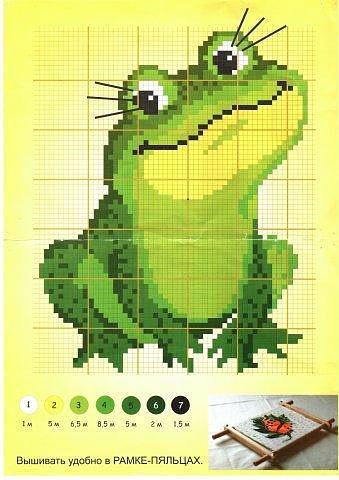 Лягушки схема вышивки 73