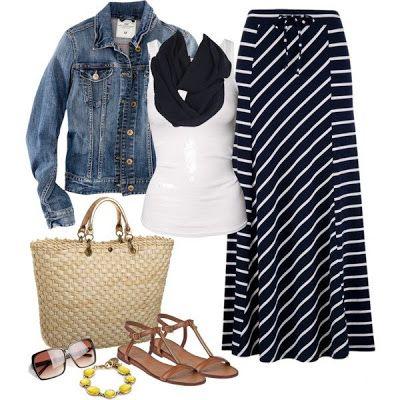 LOLO Moda: Beautiful Maxi Skirt