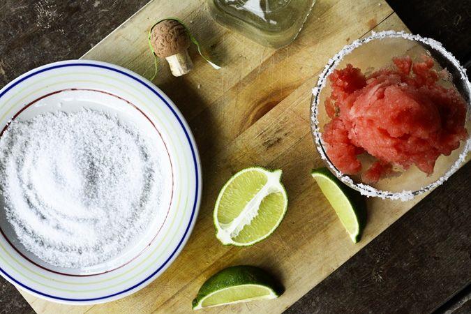 Watermelon Lime Sorbet and Frozen Watermelon Margaritas + a Frozen ...