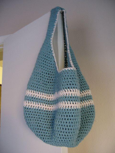 Crochet Market Tote Pattern : Free crochet market tote pattern Crochet Pinterest
