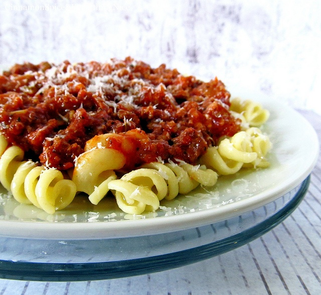 Italian Meat Sauce and Pasta by ~CinnamonGirl, via Flickr
