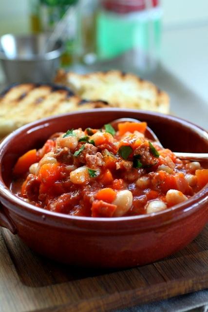 Italian Sausage & Bean Stew...