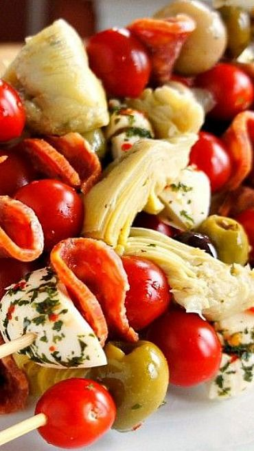 Antipasto Skewers: An Easy Party Food | Recipe