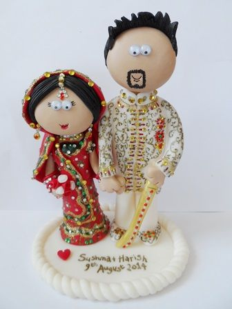 Wedding Gifts For Japanese Couple : Asian Bride & Groom wedding cake topper, handmade to look like you ...